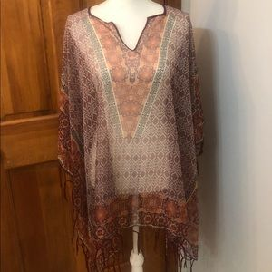 Maurice's Lightweight Patterned Poncho
